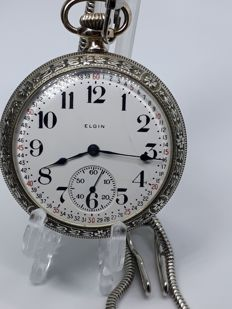 Elgin Watch Company - mecânico Manual - 27648975 - Mænd - 1901-1949