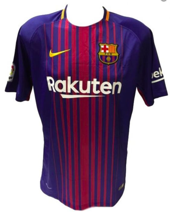 30ebf4a24 Lionel Messi Signed Nike Barcelona Jersey Inscribed