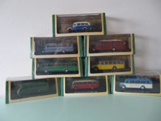 Bus Collection - Scale 1/72 - Lot with 8 busses