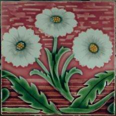 Villeroy & Boch - Art Nouveau tile with flowers