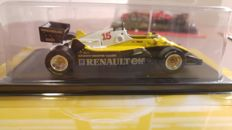 Altaya - Schaal 1/43 - Kavel met 7 modellen: Renault RE40 1983 Alain Prost - McLaren MP4/2 1984 Niki Lauda - Ferrari F2002 Weltmeister 2002 Michael Schumacher - Team Lotus 720 1972 Emerson Fittipaldi - Team Lotus 25 1963 Jim Clark - Vanwall VW57 Stirling Moss - Lancia D50 1955 Alberto Ascari