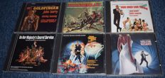 6 x Original Soundtrack CDs 007 by JOHN BARRY