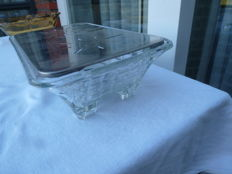 Vintage glass chafing dish