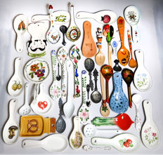 Large collection special spoons and spoon holders!