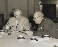 Unkonwn/War Office Photograph - Winston Churchill and Franklin D. Roosevelt, 1945