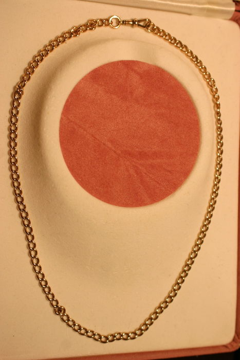 9 Carat [375] Gold Round Link Necklace - 50cm or 20 Inches Long - Total Weight 23g