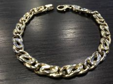 14 karat rope chain bracelet for men, 21,5 cm long, 14,2 gr.
