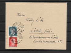 German Reich - 1920/1940 - 20 envelopes with stamps from booklets - Zusammendrucke - Lot of posted letters - Alsace Lorraine and Luxembourg - German Occupation - Plus very rare postal stationery...