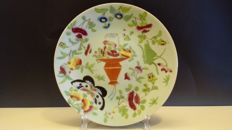 19th Century Chinese porcelain plates - flowers and butterflies