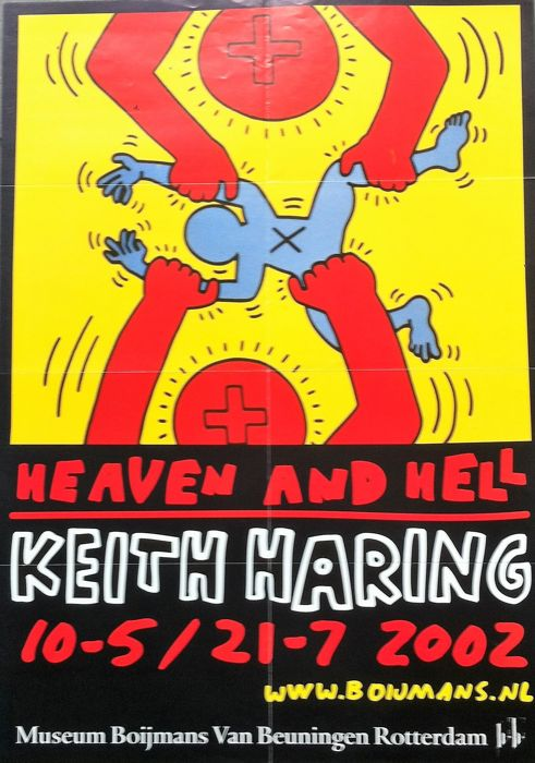 Keith Haring (naar) - Heaven and hell - 2002