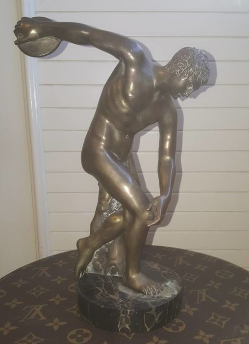 Discobolus Sculpture - Silver Melting - unsigned - first half of the 20th century