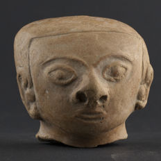 Large Jamacoaque Pottery Head - 7,2x7 cm
