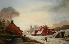 Willem Bosman Az. (20th century)  - Hollands Wintergezicht
