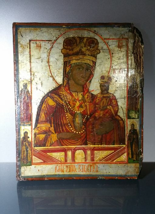 Russian icon Mother of God Softener of Evil Hearts - 19th century