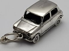 Mini Cooper Sterling Silver Keychain