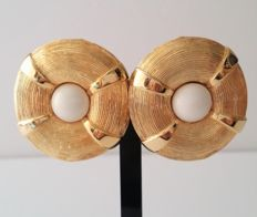 VALENTINO USA 18kt gold plated large clip on earrings