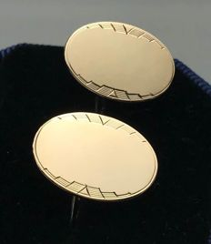 Gustav Dahlgren gilt-silver cuff links, Sweden 1944