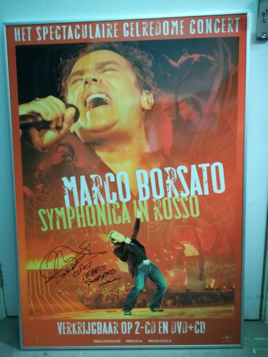 "Concert poster ""Marco Borsato - Symphomica in Rosso"" signed"