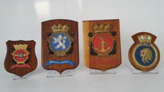 A lot of four various coats of arms, the Netherlands