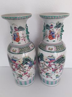 Two large porcelain vases - China - end of the 20th century