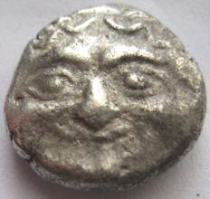 "Greek Antiquity - Mysia Parion ca 480 b.C.  3/4 Drachm "" Gorgoneion"" silver"