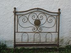 Vintage double bed in wrought iron - Italy, 1860 circa