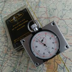 New Old Stock 1x vintage BREITLING Flyback Stopwatch Dash set. Rally / Race Timer. 1970´s - 1980´s.