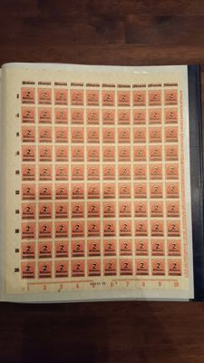 2 Folders with complete sheets (parts) German Reich, Germany and Berlin 1920/1980