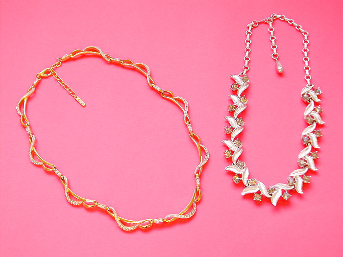 Exceptional 24kt.Gold Plated 'D'Orlan Necklace and a Stunning 'Coro' Necklace !