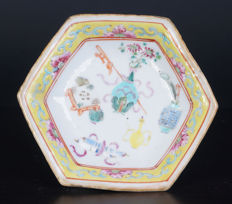 Famille Rose Porcelain meat dish - China - 19th century