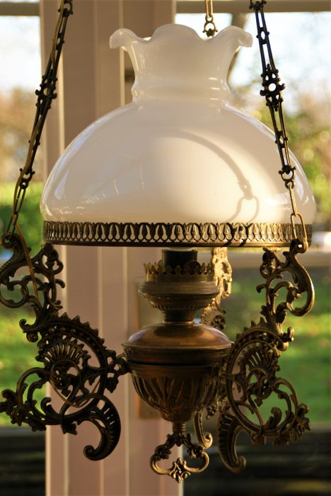 Dutch crafted brass stylish oil lamp flashed on electricity with dutch crafted brass stylish oil lamp flashed on electricity with glass lamp shade aloadofball Image collections