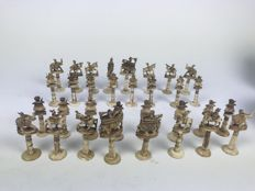A very beautiful Antique chess figure set from India 19th century