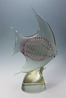 Attributed to: Oball Murano - Big Fish Sculpture (42 cm)