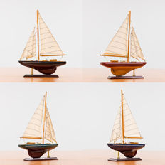 Four beautiful sailing ships - very detailed-