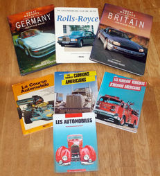 Various automobile books - 7 copies - 1970s, 1980s, 1990s