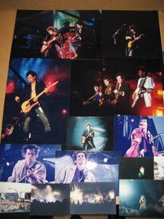 Rolling Stones - Lot with 14 live photo's during a concert in the Netherlands.