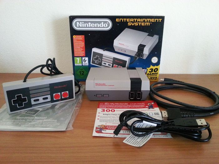 Original NES Nintendo Classic Mini with 30+ games installed with extra games