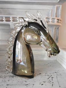 Large Murano horse head - vintage 1960s - Italy
