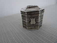 Dutch silver scent box - 1844
