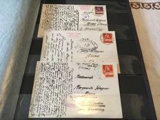 lot consisting of 41 x postcards Censorship Post Switzerland WWII German and French