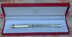 Cartier Paris silver-plated fountain pen, never used in perfect condition