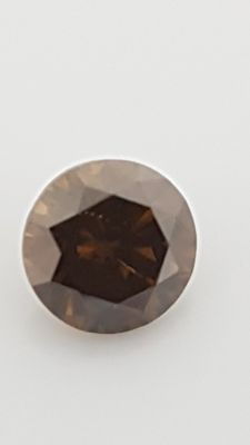 0.55 ct - Round Brilliant - Brown - VS1 - Nominimum price