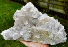 Large natural piece of rock crystal, crystallized on both sides - 27 x 16 x 8 cm - 3.130 kg