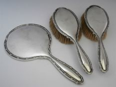 Silver dressing table set 3-piece - William Neale & Sons Ltd - Birmingham - 1923
