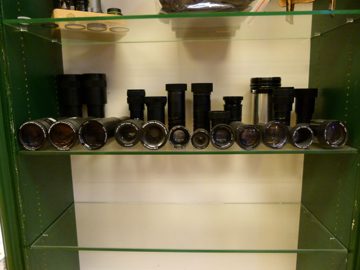 24 various projection lenses