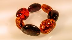 Baltic Amber Bracelet, multi colour,  40 grams
