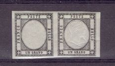 Italy 1861, Province of Naples issue – Sass. N. 19 g.