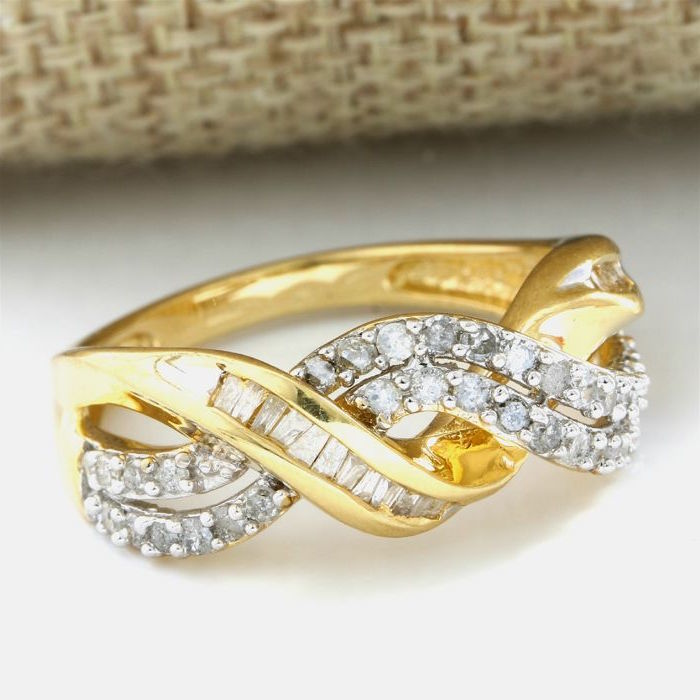 14 kt Yellow Gold 0.50 ct Diamond Ring, Size: 7