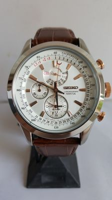 Seiko chronograph perpetual - Wristwatch - 2017 - never worn - mint condition