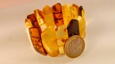 Baltic Amber Bracelet, multi colour,  28 grams